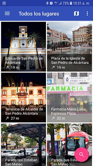 Captura pantalla App Guía de San Pedro Alcántara