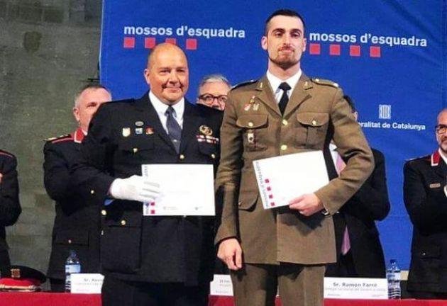 El teniente Millán recibió una felicitación