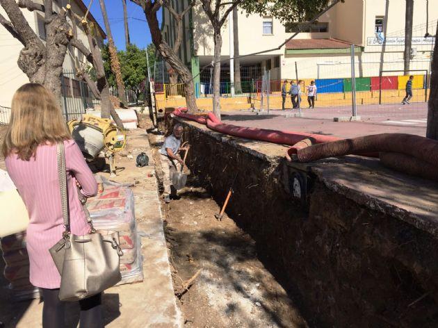 Obras en el CEIP Acapulco