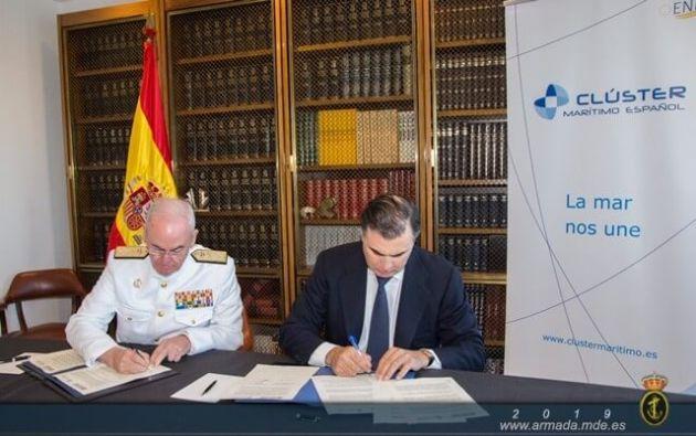 La Armada y el Clúster Marítimo Español firman un convenio de colaboración para la promoción de los intereses marítimos nacionales