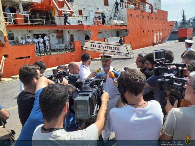 El Buque de Investigación Oceanográfica Hespérides regresa a Cartagena