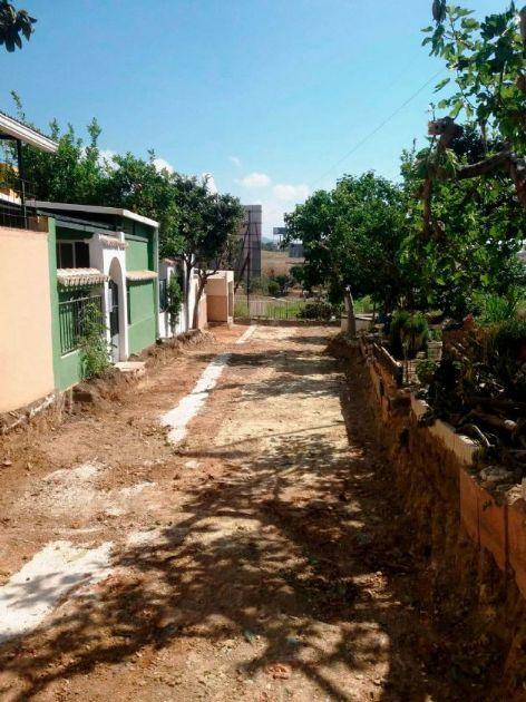 Obras en la calle Matagorda