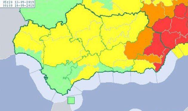 Mapa de avisos decretado por la Agencia Estatal de Meteorología