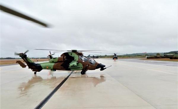 Dos helicópteros Tigre españoles participan en el ejercicio