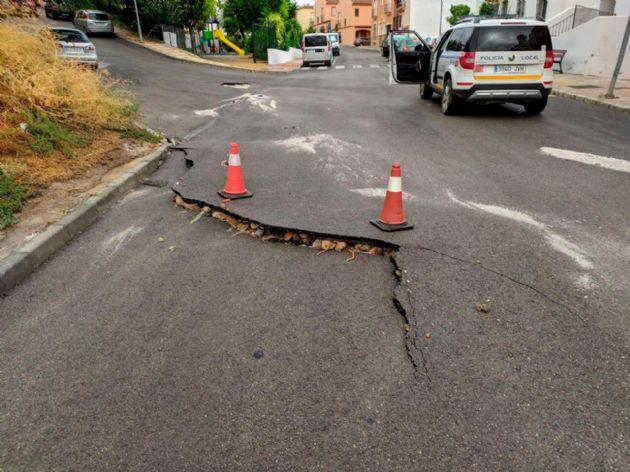 Daños causados por las lluvias en Coín