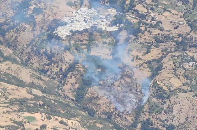 Incendio forestal en Bubión