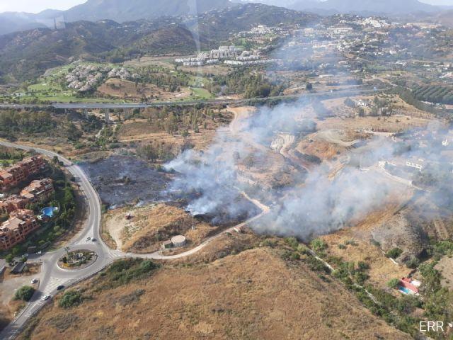 Incendio forestal declarado en el municipio malagueño de Benahavís este domingo 3 de agosto de 2020