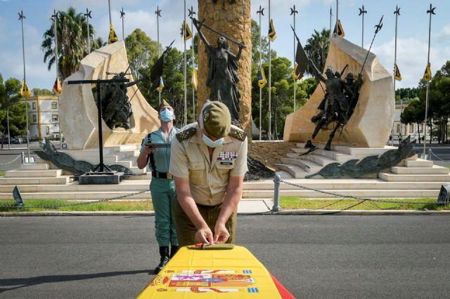 Honras fúnebres celebradas en la base de la Legión en Almería