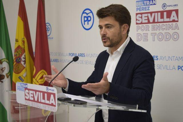 Beltrán Pérez, portavoz del Grupo Municipal del PP en el Ayuntamiento de Sevilla