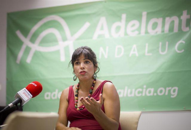 La presidenta del grupo parlamentario de Adelante Andalucía, Teresa Rodríguez