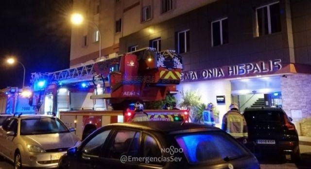 Hotel afectado por un incendio