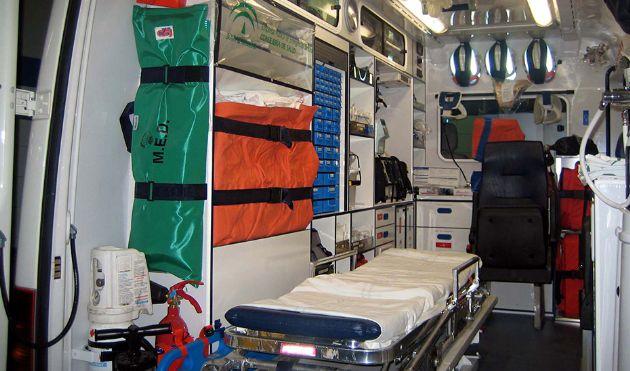 Interior de ambulancia