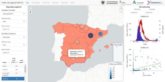Captura del mapa interactivo que se genera en DatAC