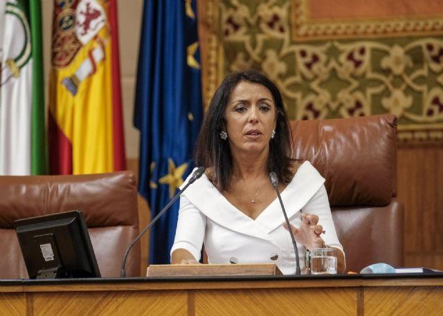 La presidenta del Parlamento de Andalucía, Marta Bosquet