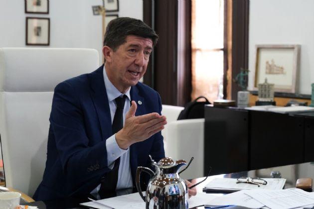 El vicepresidente de la Junta y consejero de Turismo, Regeneración, Justicia y Administración Local, Juan Marín, en una foto de archivo