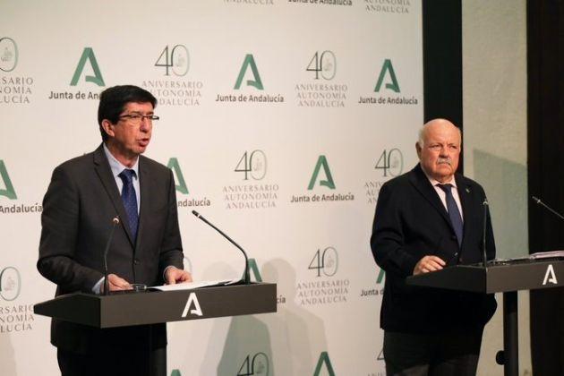 Juan Marín y Jesús Aguirre