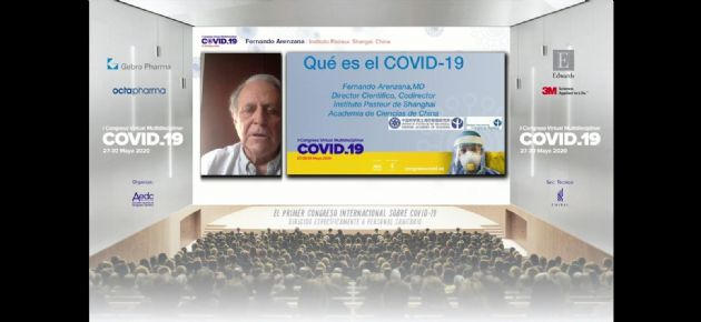 Presentación del codirector del Instituto Pasteur de Shanghái (China), Fernando Arenzana