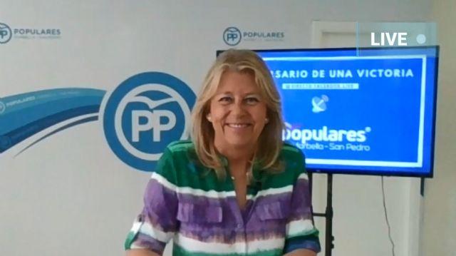 La presidenta del PP Marbella-San Pedro, Ángeles Muñoz