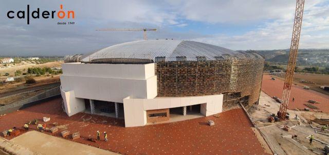 Exterior del Olivo Arena en obras