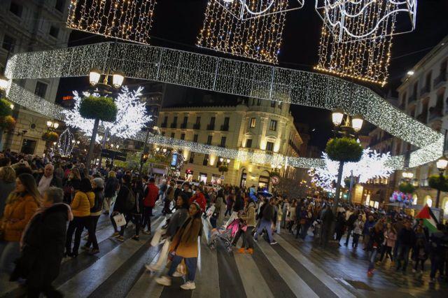 Encendido de las luces de Navidad en Granada en 2019 - Álex Cámara - Europa Press