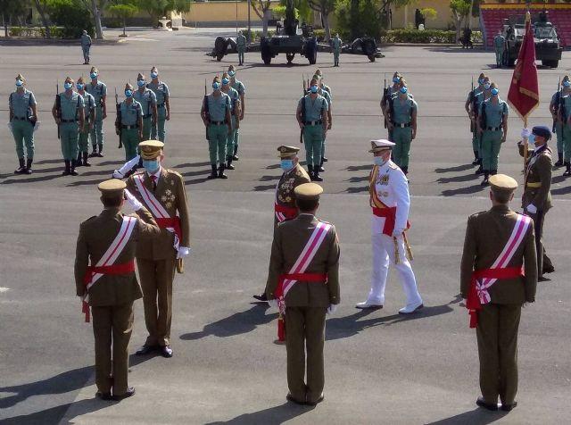 El rey Felipe VI acude a los actos por el centenario de La Legión en Viator (Almería)
