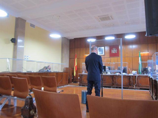 El acusado durante el juicio