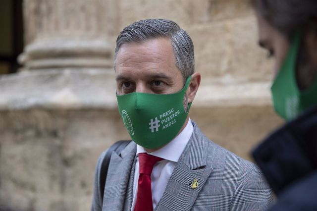 El consejero de Hacienda y Financiación Europea, Juan Bravo