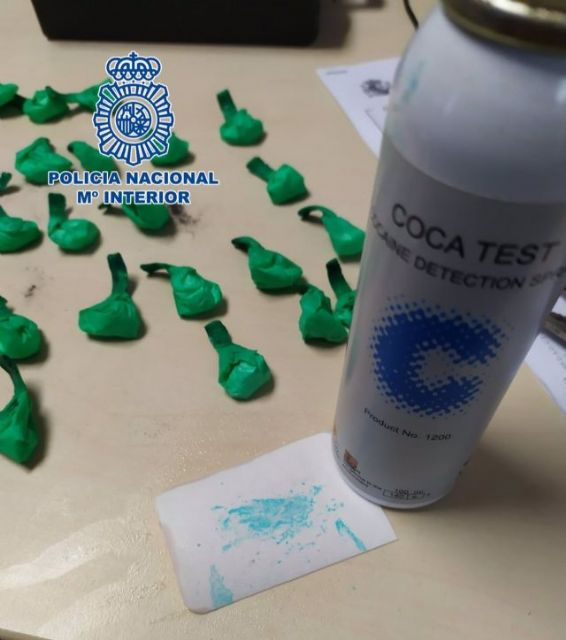 Cocaína interceptada