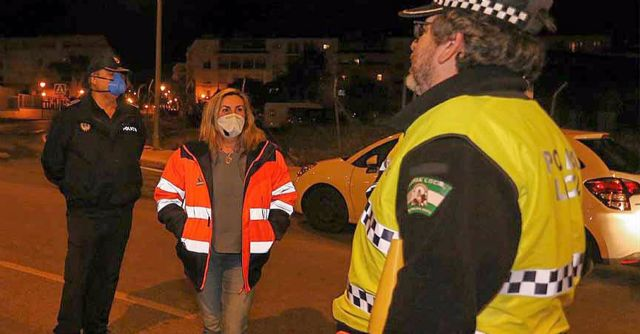 Controles de la Policía Local en el estado de alarma decretado por el Gobierno por la pandemia del coronavirus