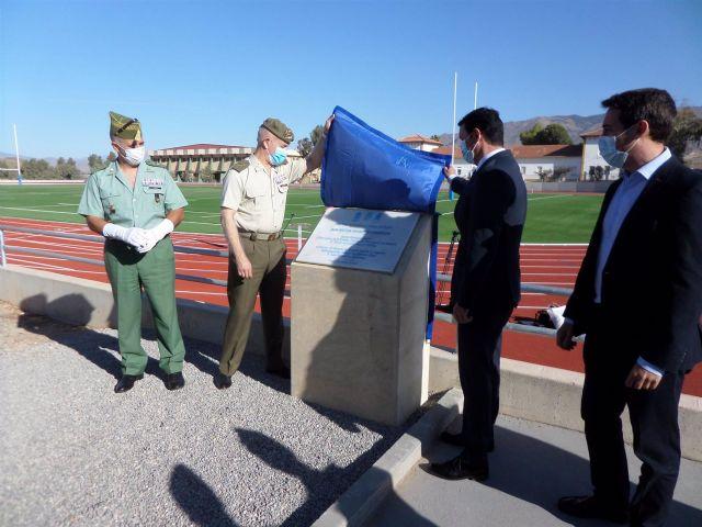 Inauguración de la pista de rugby en la base militar Álvarez de Sotomayor de Viator (Almería)