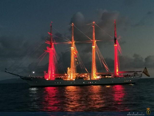 XCIII Crucero de Instrucción. El B/E Juan Sebastián de Elcano en Guam