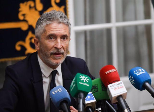El ministro de Interior, Fernando Grande-Marlaska, este jueves en Sevilla