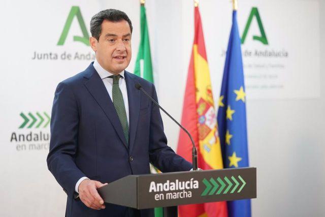 El presidente de la Junta de Andalucía, Juanma Moreno, este viernes en Jaén
