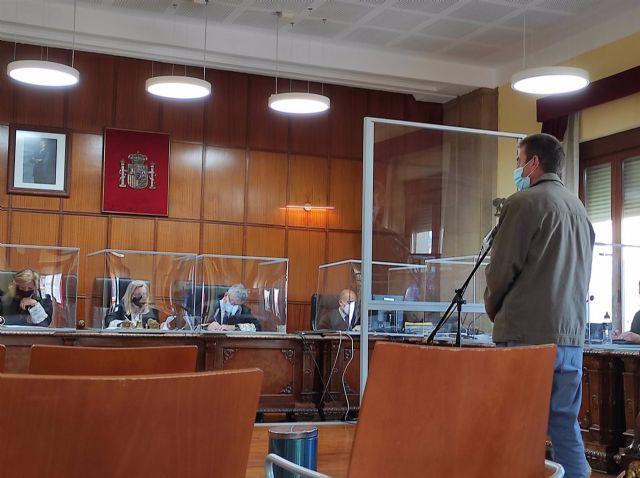 El acusado durante su declaración en el juicio
